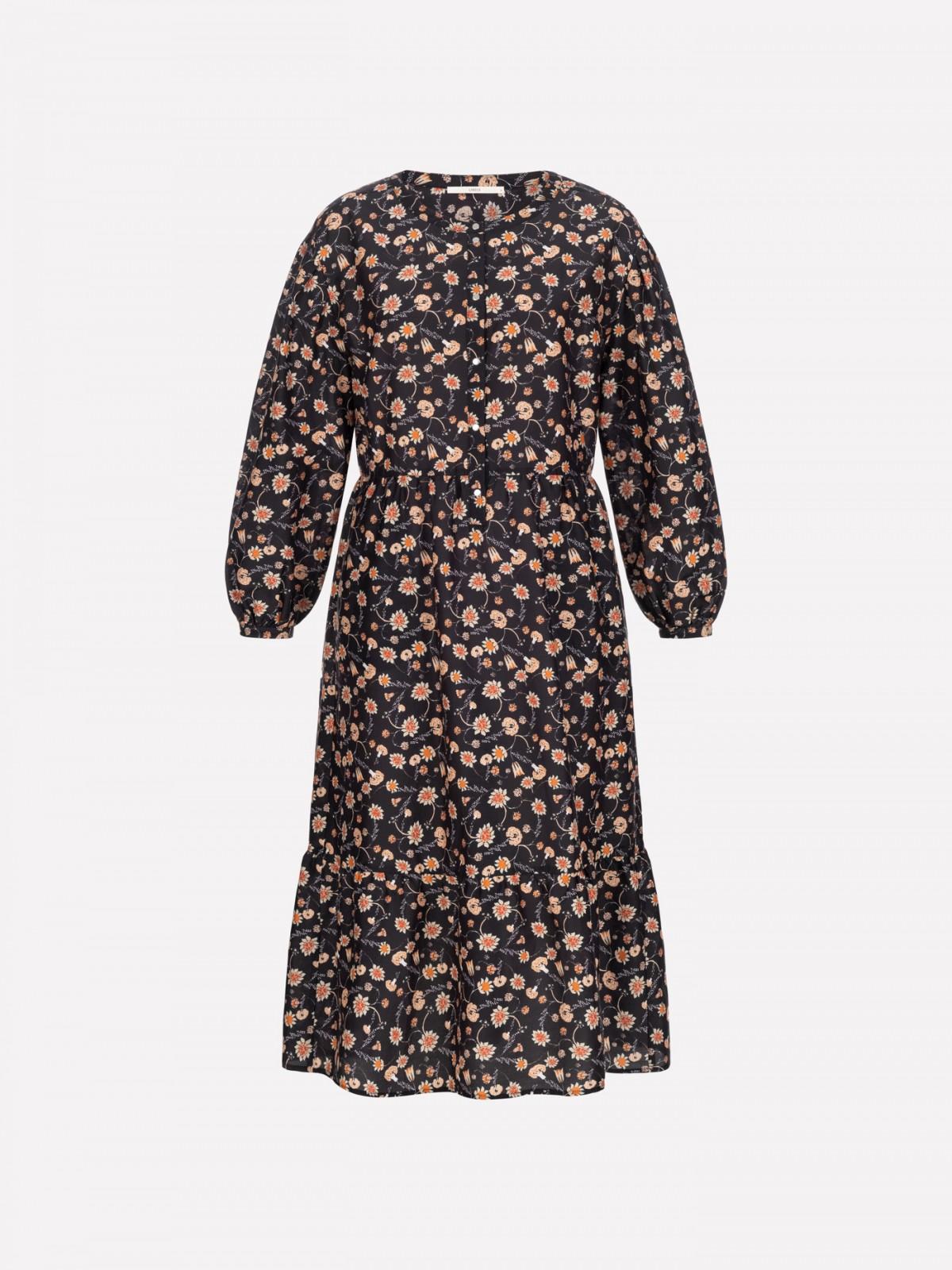 Midi dress print Botanic