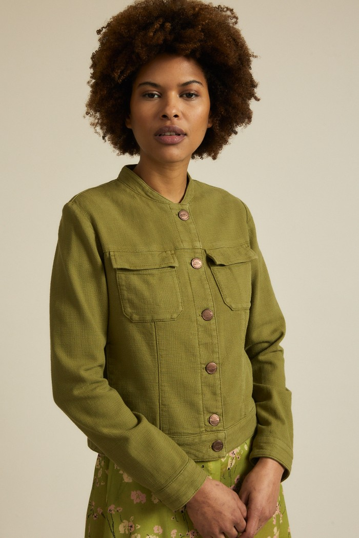 Jacket with structure