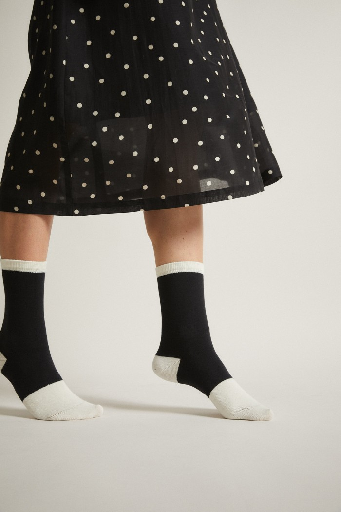 Socken mit Colourblock GOTS