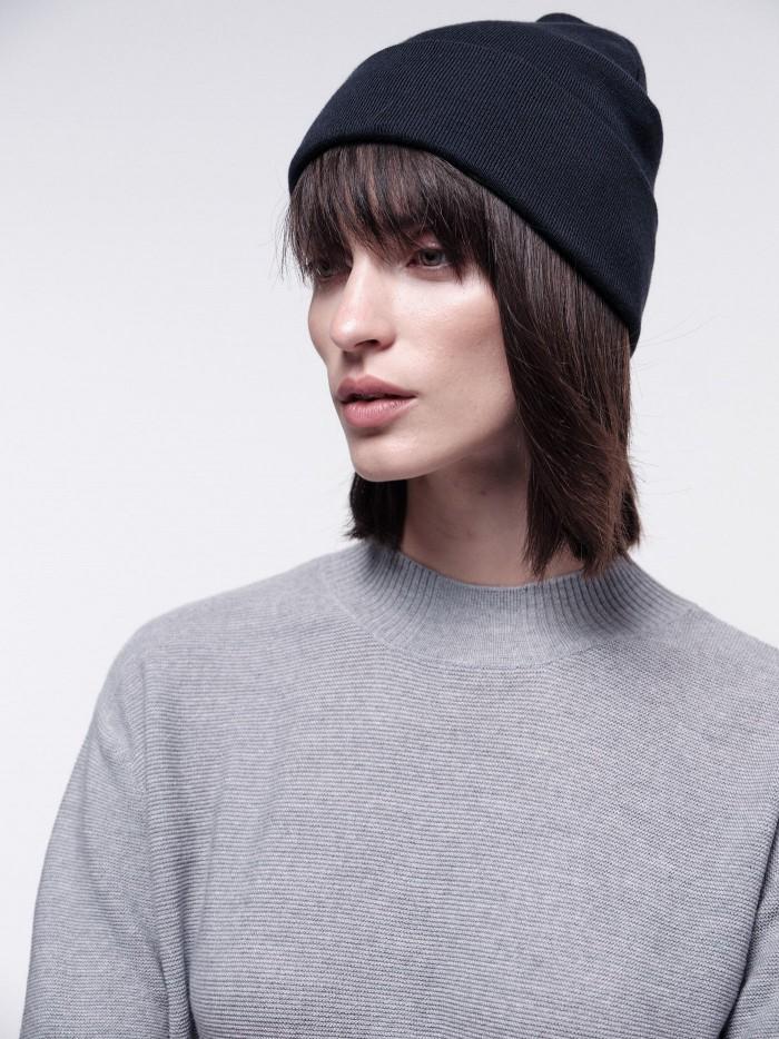 Vegane Mütze aus Bio-Baumwolle