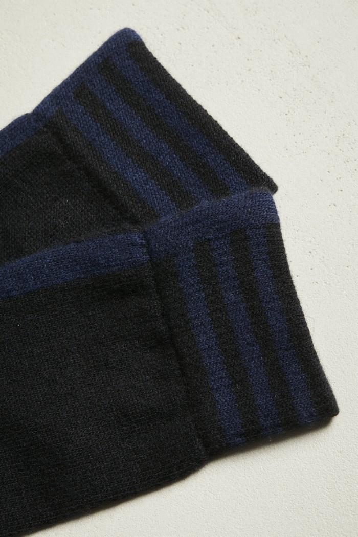 Socken mit Intarsie GOTS