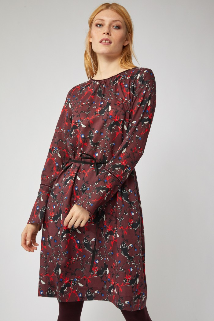 Kleid mit Falte aus Tencel