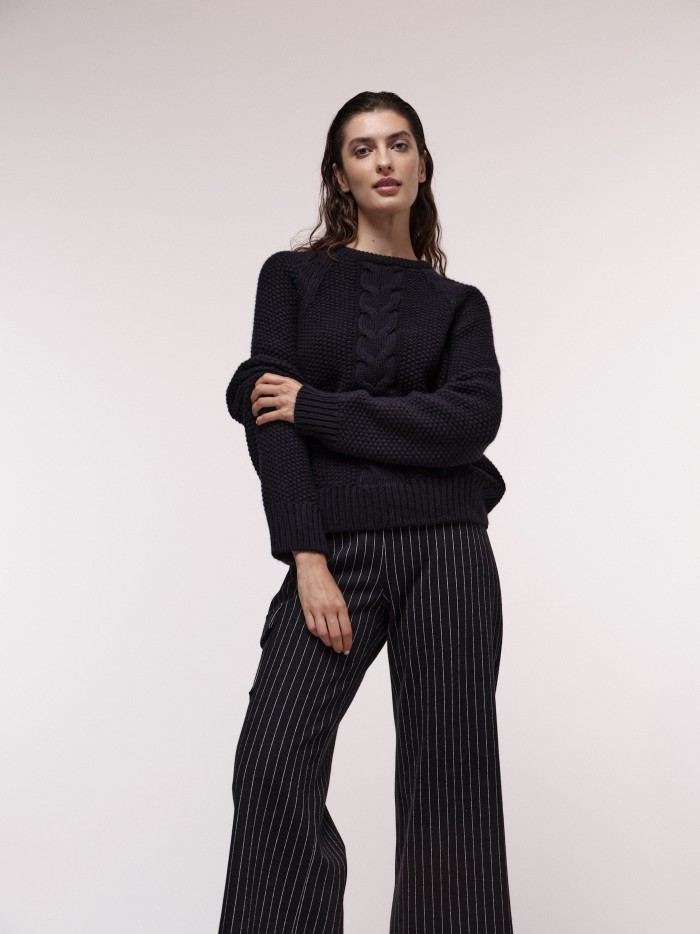 Soft jumper with cable knit