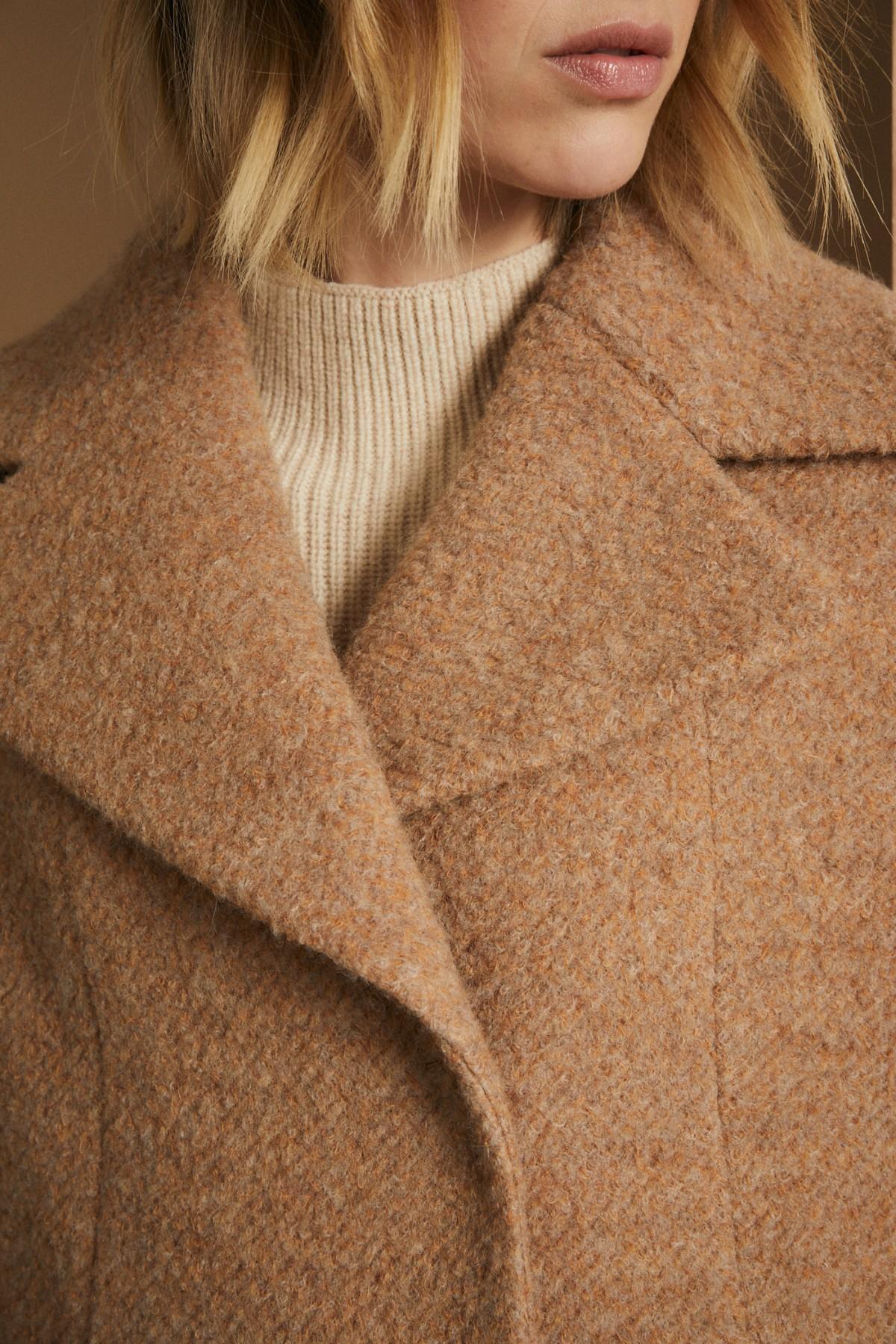 Bouclé-Short Coat