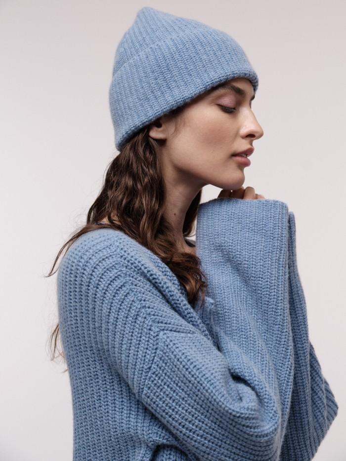 Mütze aus wärmender Bio-Baumwolle und Bio-Schurwolle