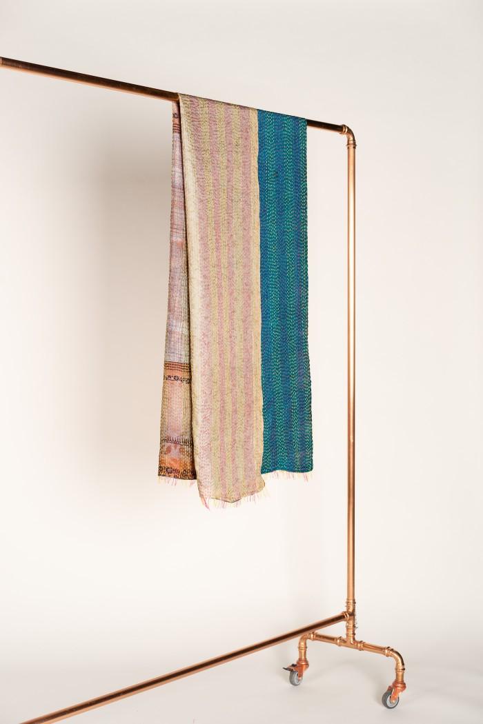 SILK SCARF made of upcycled silk Saris