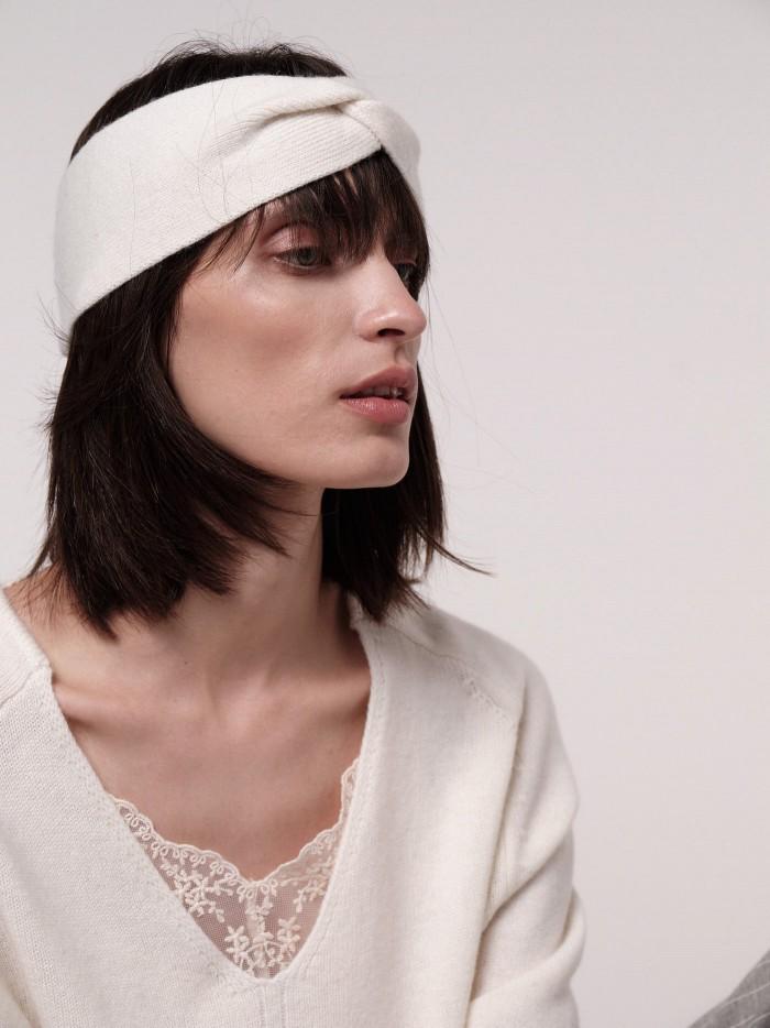 Stirnband aus weicher Schurwolle aus artgerechter Tierhaltung