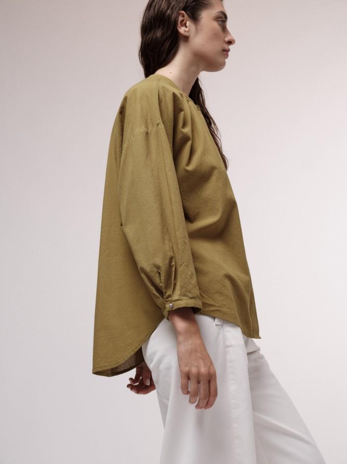 Leichte Bluse mit Streifen aus Bio-Baumwolle