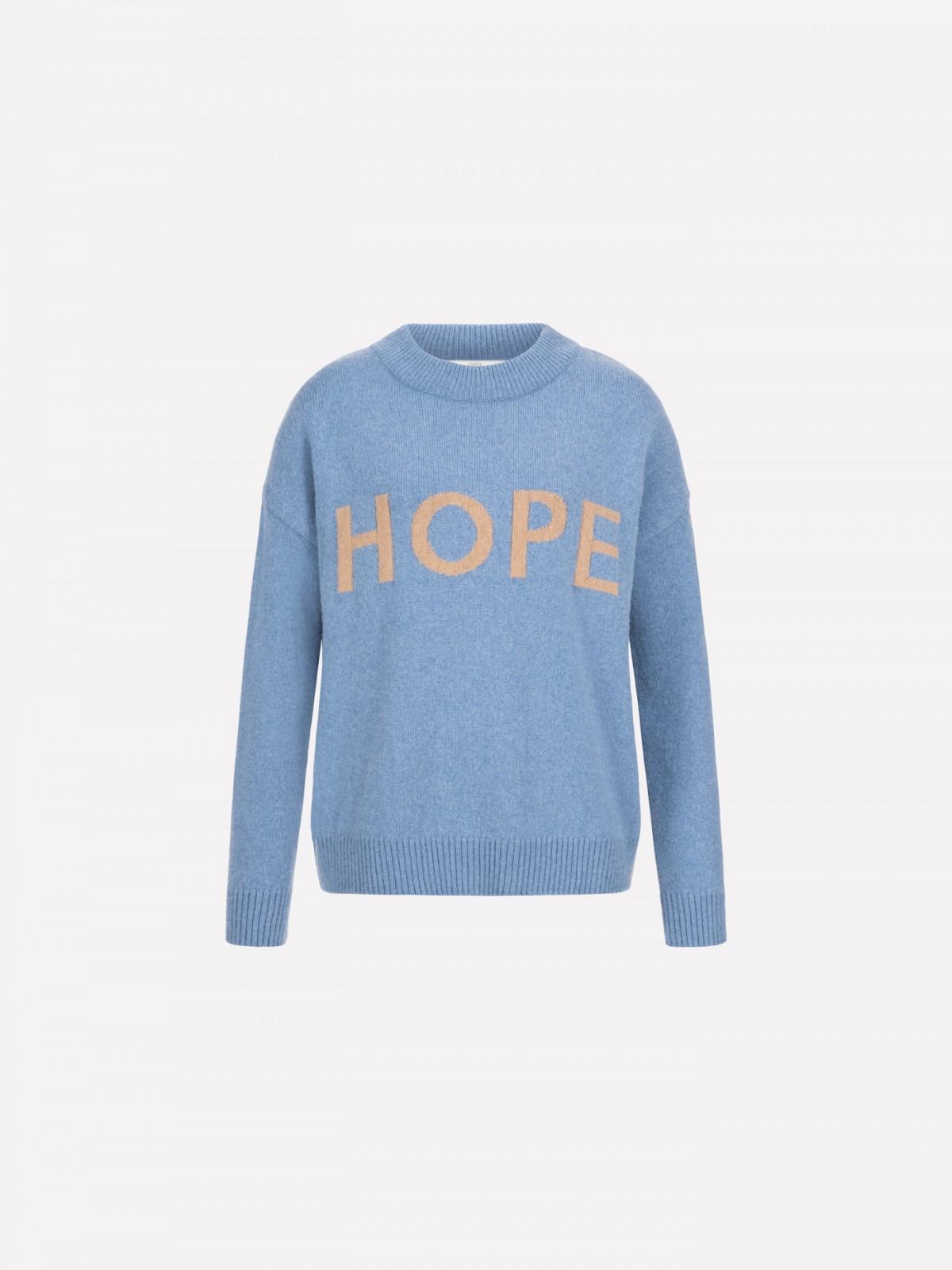 Statement jumper HOPE in organic virgin wool and organic cotton