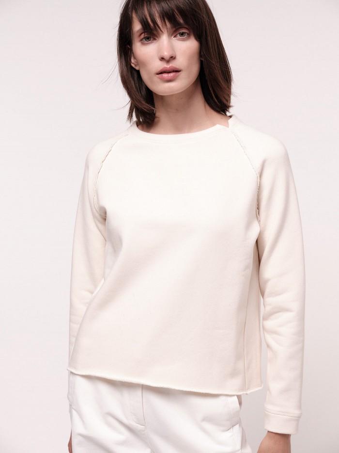 Raglansweatshirt aus Bio-Baumwolle