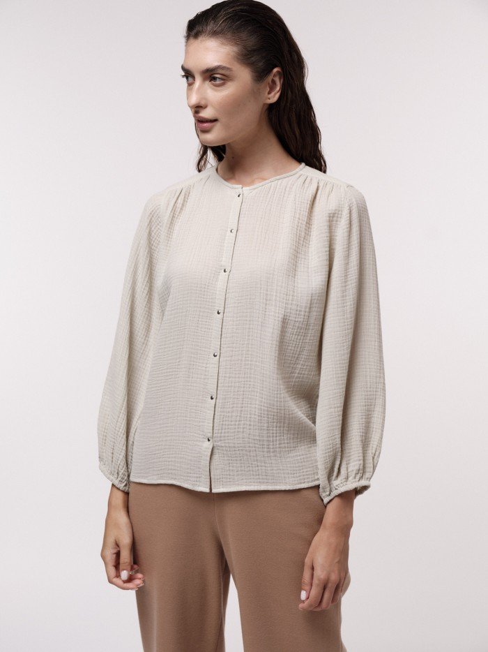 Structured Blouse made of organic cotton