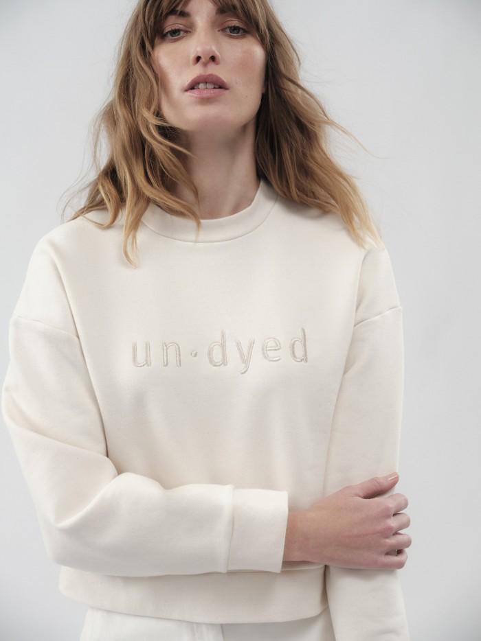 undyed Boxy Sweatshirt aus Bio-Baumwolle