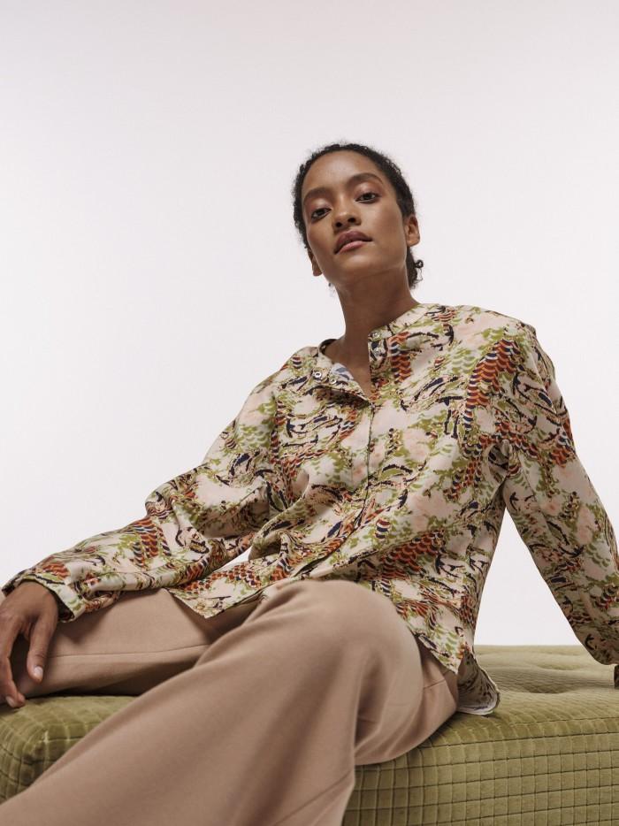Bluse aus TENCEL™ mit Print